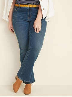Mid-Rise Kicker Boot-Cut Plus-Size Jeans
