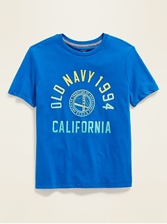 Logo-Graphic Crew-Neck Tee for Boys