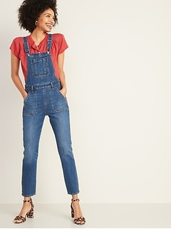 Straight-Leg Jean Overalls for Women