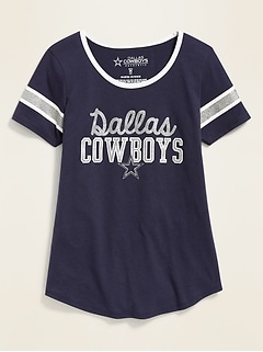 NFL® Dallas Cowboys™ Sleeve-Stripe Tee for Girls