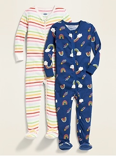 2-Pack Footie Pajama One-Piece for Toddler & Baby