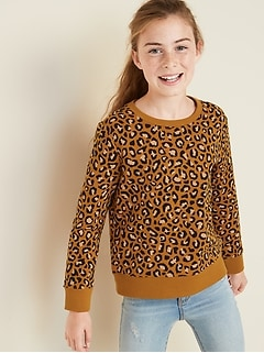 Graphic Crew-Neck Sweatshirt for Girls