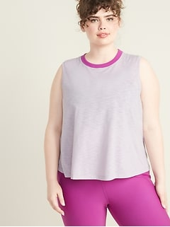Plus-Size Jersey Performance Swing Tank