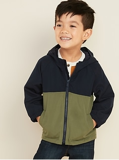 Hooded Color-Blocked Jacket for Toddler Boys