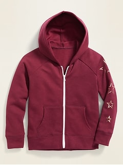 Graphic Zip Hoodie for Girls