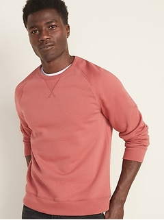Classic Raglan-Sleeve Crew-Neck Sweatshirt for Men