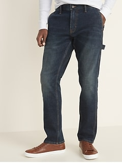 Straight Built-In Flex Carpenter Jeans For Men
