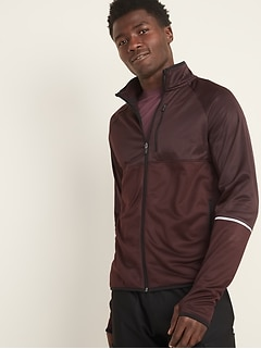 Go-Warm Mock-Neck Zip Run Jacket for Men