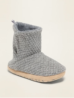 Quilted Jersey Slipper Boots for Toddler