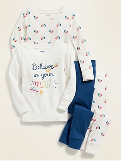 """Believe In Your Magic"" 4-Piece Pajama Set for Toddler & Baby"
