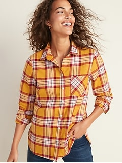 Patterned Twill Classic Shirt for Women