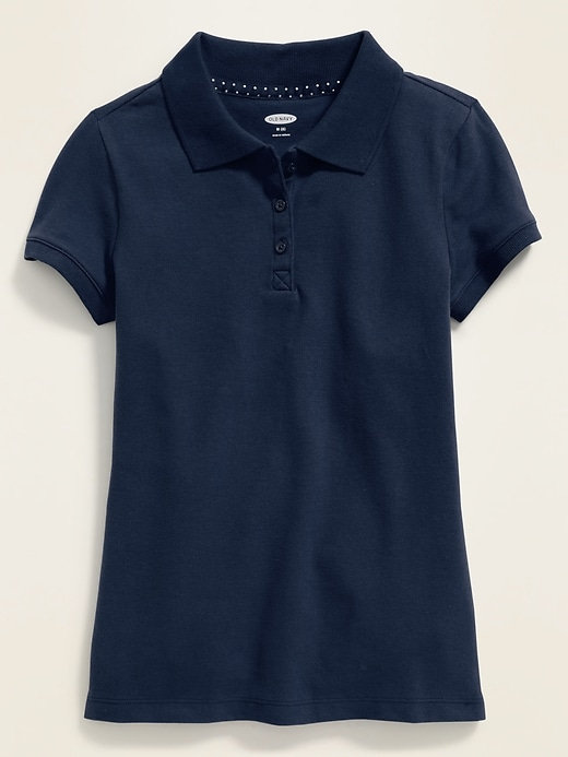 Old Navy: Uniform Pique Polo for Girls $5.00