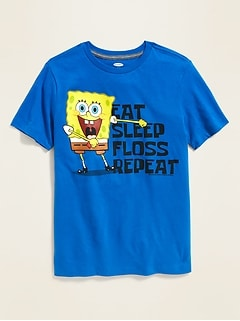 "SpongeBob SquarePants™ ""Eat Sleep Floss Repeat"" Tee for Boys"