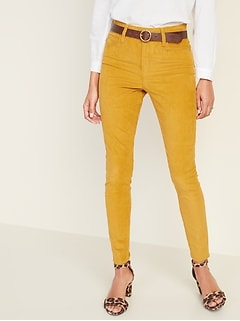 High-Waisted Rockstar Super Skinny Cords For Women