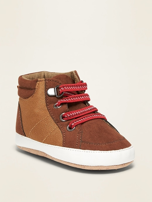 Canvas/Faux-Suede High-Tops for Baby