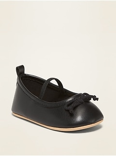 Faux-Leather Ballet Flats for Baby
