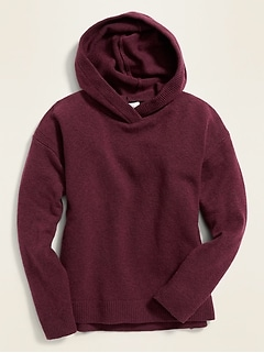 Oversized Pullover Sweater Hoodie for Girls