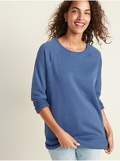Boyfriend French Terry Tunic Sweatshirt for Women