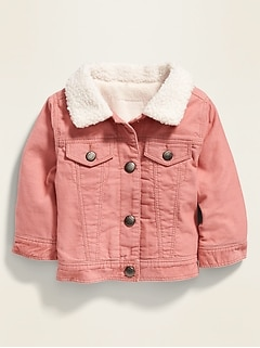 Corduroy Sherpa-Collar Trucker Jacket for Baby