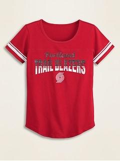 NBA® Team-Graphic Sleeve-Stripe Tee for Girls