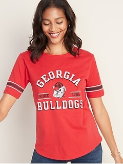 "University of Georgia&#174 ""Georgia Bulldogs Since 1785"" Sleeve-Stripe Tee for Women"