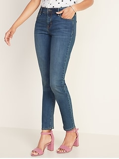 Mid-Rise Curvy Straight Jeans for Women