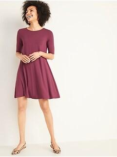 Jersey Swing Dress for Women