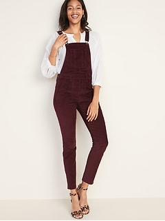 Straight Corduroy Overalls for Women