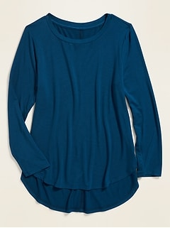 Luxe Tulip-Hem Jersey Tunic for Girls