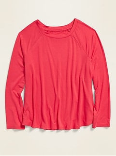Luxe Raglan A-Line Tee for Girls