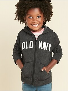 Logo-Graphic Zip Hoodie for Toddler Girls
