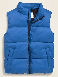 Frost-Free Quilted Puffer Vest for Boys