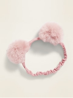 Faux-Fur Pom-Pom Headband for Baby