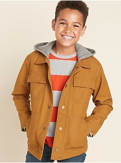 Hooded Workwear Jacket for Boys