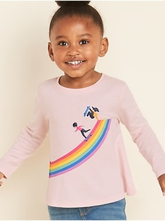 Graphic Swing Tee for Toddler Girls