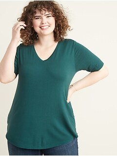 Luxe Plus-Size V-Neck Tunic