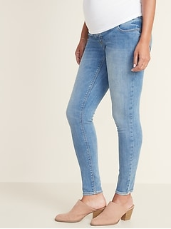 Maternity Front Low-Panel Rockstar Super Skinny Jeans