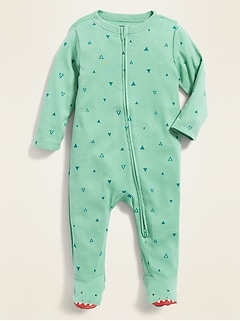 Footed Dinosaur-Feet One-Piece for Baby