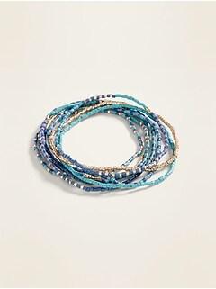 Beaded Multi-Strand Stretch Bracelet for Women