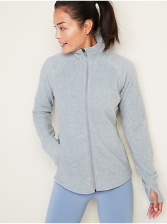 Micro Performance Fleece Zip Pullover for Women