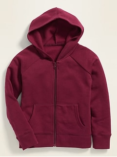 Relaxed Uniform Zip Hoodie for Girls