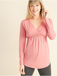 Maternity Cross-Front Nursing Lounge Top