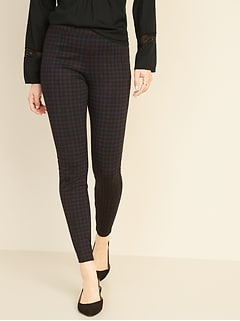 High-Waisted Patterned Ponte-Knit Stevie Pants for Women