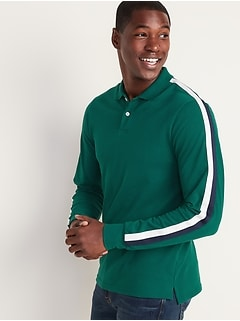 Moisture-Wicking Sleeve-Stripe Pro Polo for Men