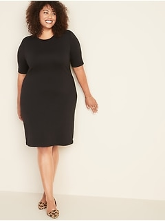 Fitted Plus-Size Shift Dress