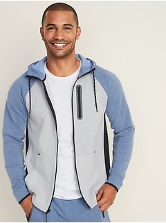 Dynamic Fleece 4-Way-Stretch Color-Blocked Zip Hoodie for Men