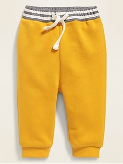 Striped Rib-Knit Waist Joggers for Baby