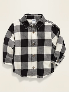 Buffalo-Plaid Twill Shirt for Baby