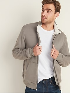 Sherpa-Lined Zip Jacket for Men