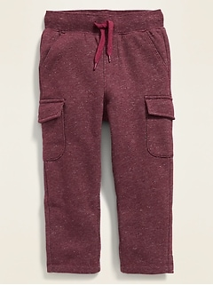 Functional-Drawstring Cargo Sweatpants for Toddler Boys